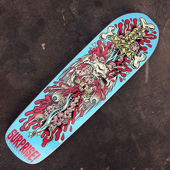 Collaboration design with Surprise Skate Decks