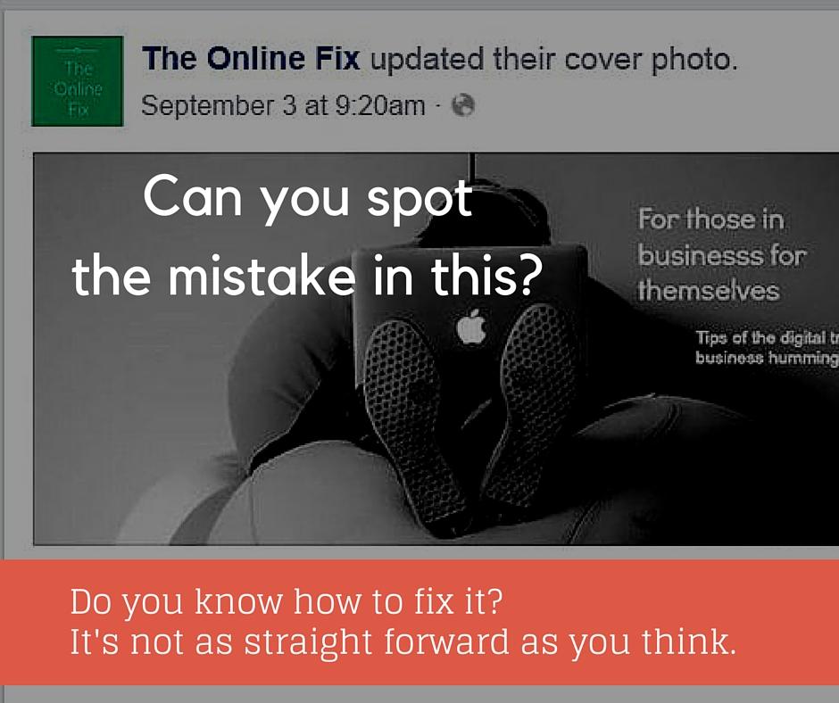 An error in a Facebook post