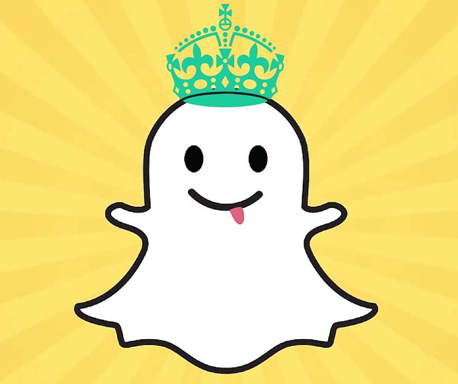 Snapchat with a crown