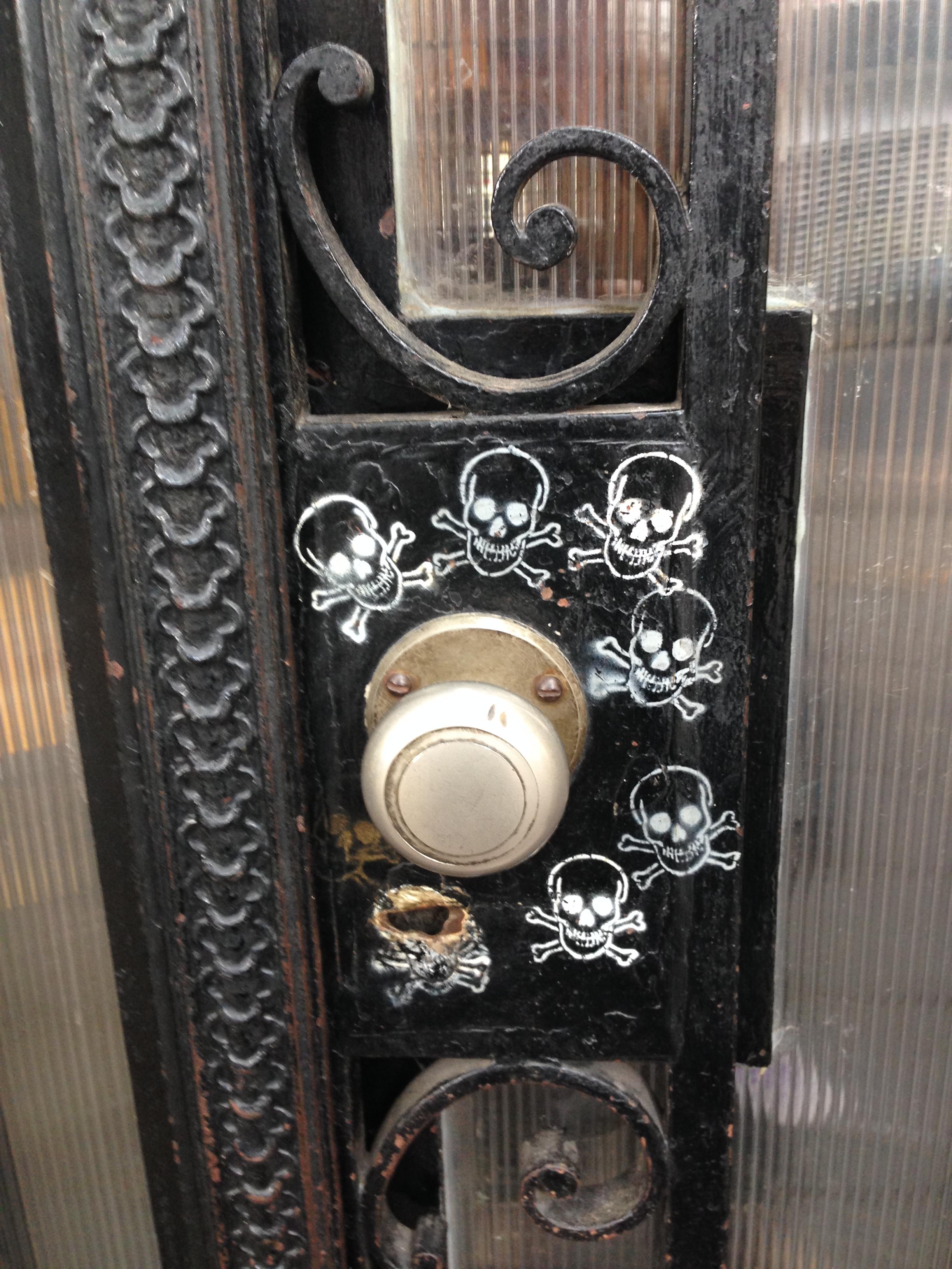 Open the door to see the danger
