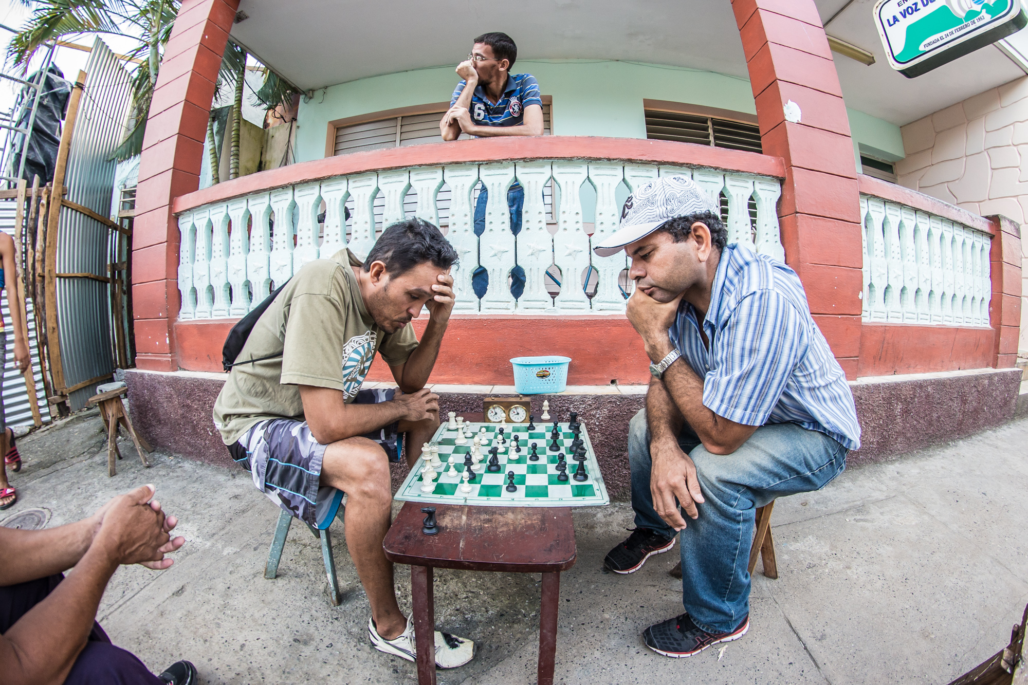 Early evening chess battle  in Baracoa
