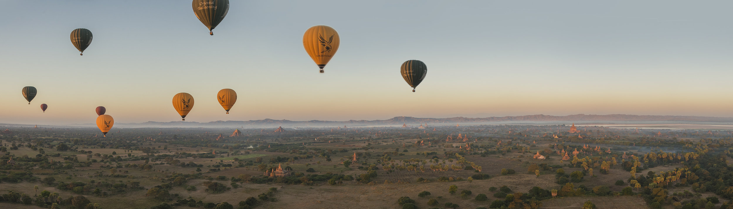 Ballooning over Bagan, Myanmar