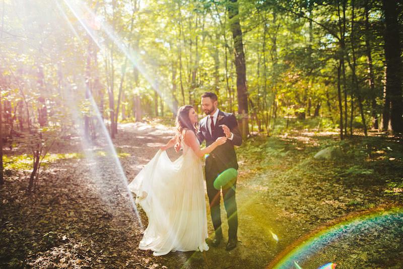ELIZABETH + DANIEL | CAMP STYLE WEDDING IN THE WOODS -
