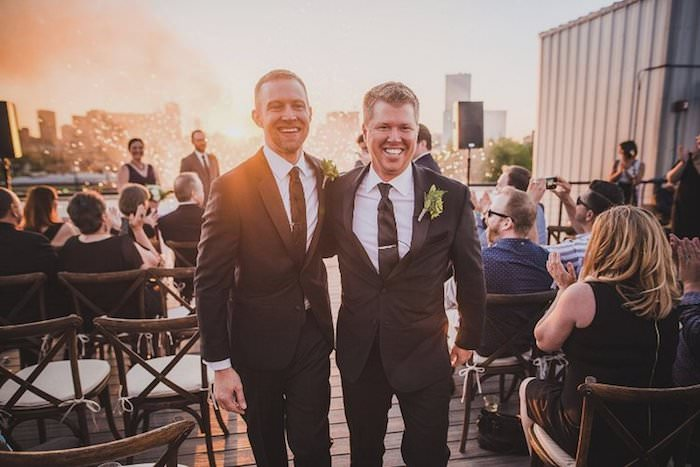 JUSTIN + PATRICK | DOWNTOWN DALLAS, TEXAS ROOFTOP WEDDING -