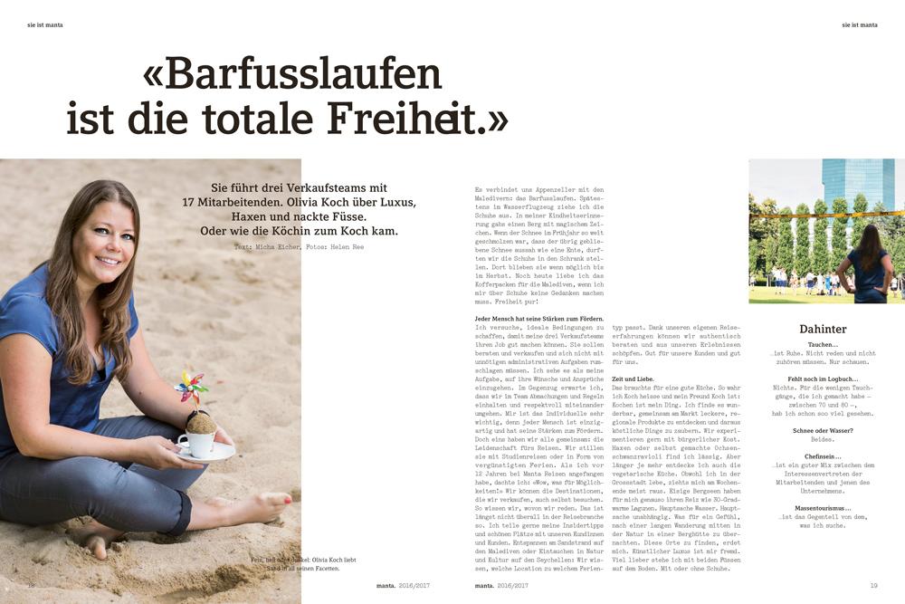 Manta Magazin, Portraits
