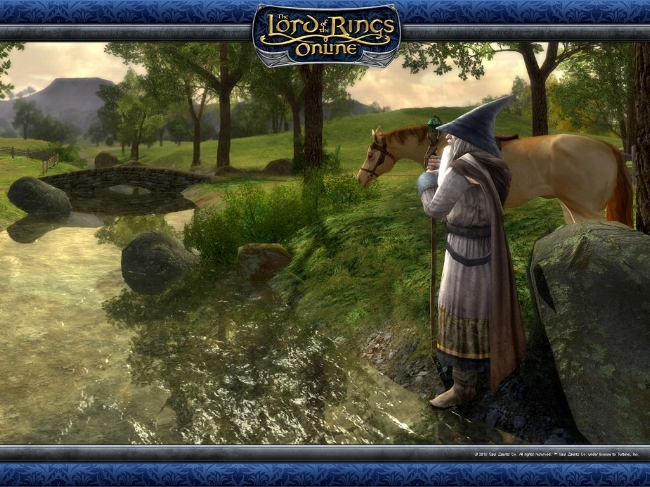 The Lord of the Rings Online Gandalf in The Shire.jpg