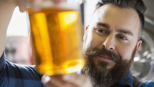 Is this man a beer snob? Who knows?