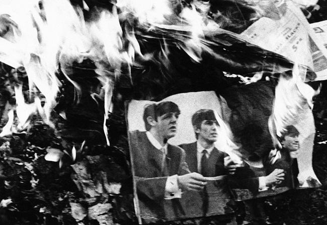 Burning Beatles albums.jpg