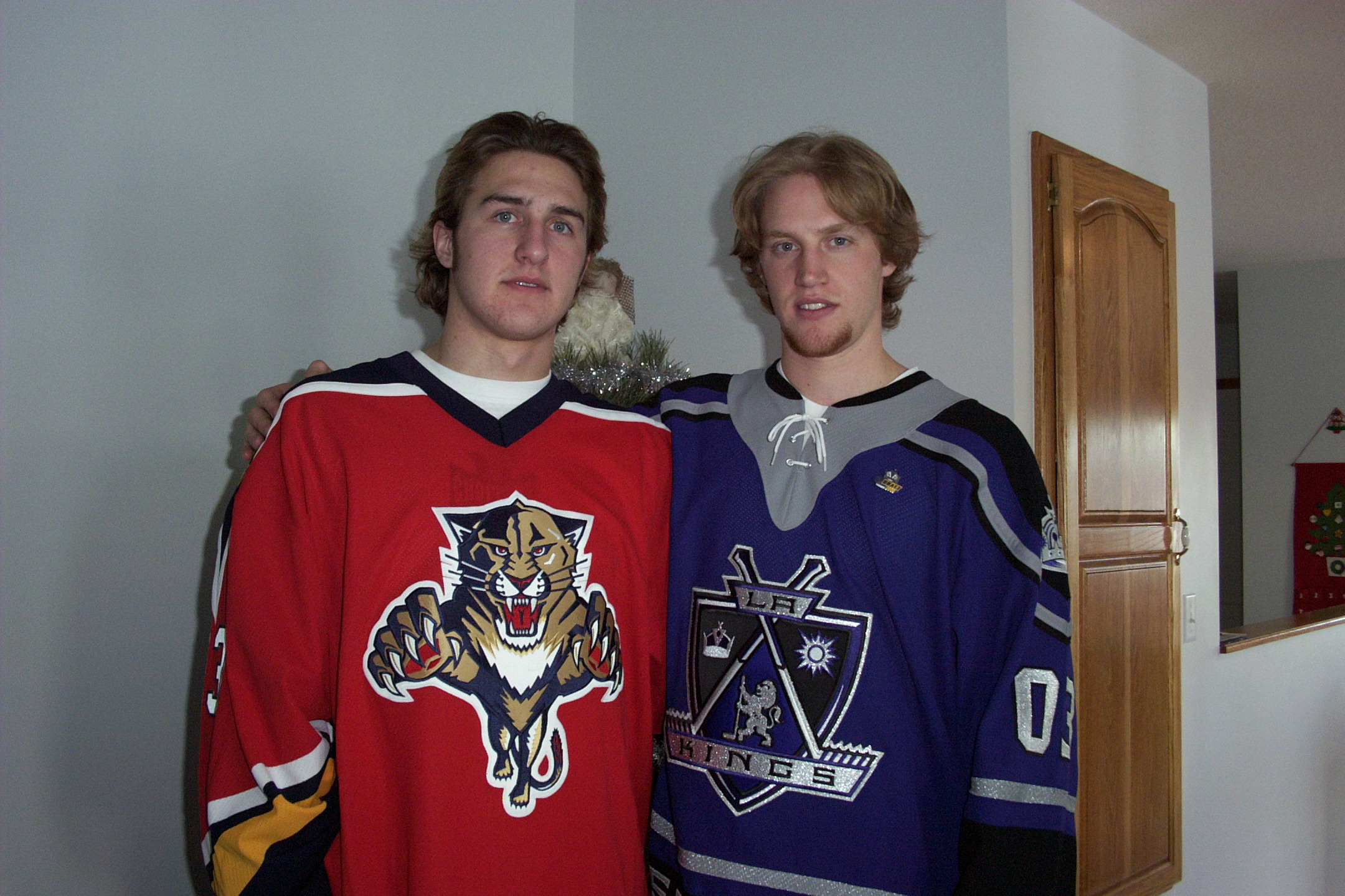 Tanner and myself after the 2003 NHL draft.