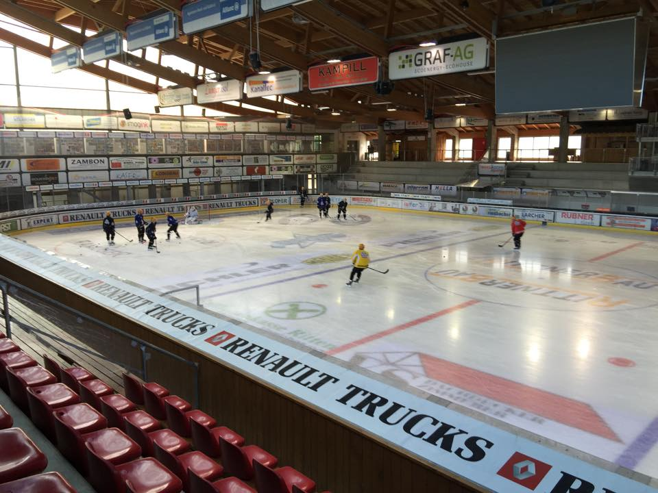 Fischtown Penguins practice in Ritten Italy, host of the Arena Cup - Photo courtesy of the Fishtown Pinguins
