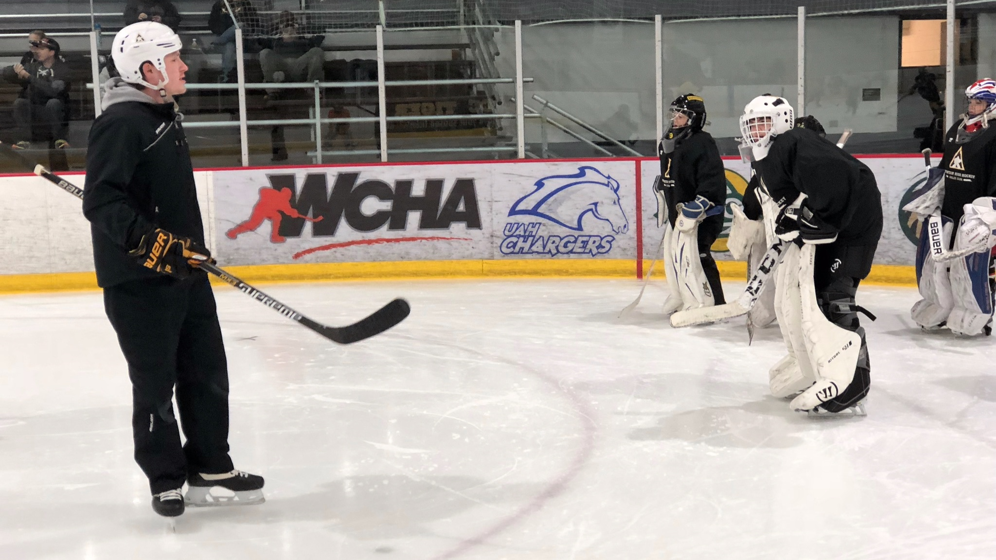 Tate Maris - A Colorado Native, Coach Tate Maris grew up playing youth hockey in Colorado before moving on to the University of North Dakota Fighting Hawks. Coach Maris is currently in his 3rd season coaching for the MHH Goalie Club and has over 10 years of goalie coaching experience working as a main instructor with JPL Goaltending and the REA Hockey Academy in Grand Forks North Dakota. Coach Maris has worked directly under the tutelage of Karl Goehring (current Goalie Coach for the Tampa Bay Lightning AHL team Syracuse Crunch).Coach Maris is currently in his second season, serving as goalie coach for the Colorado College Tigers of the NCHC.