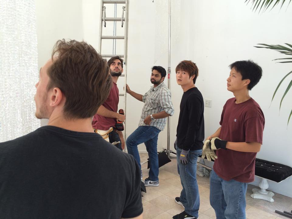 Waltz Crew setting up the Location 2
