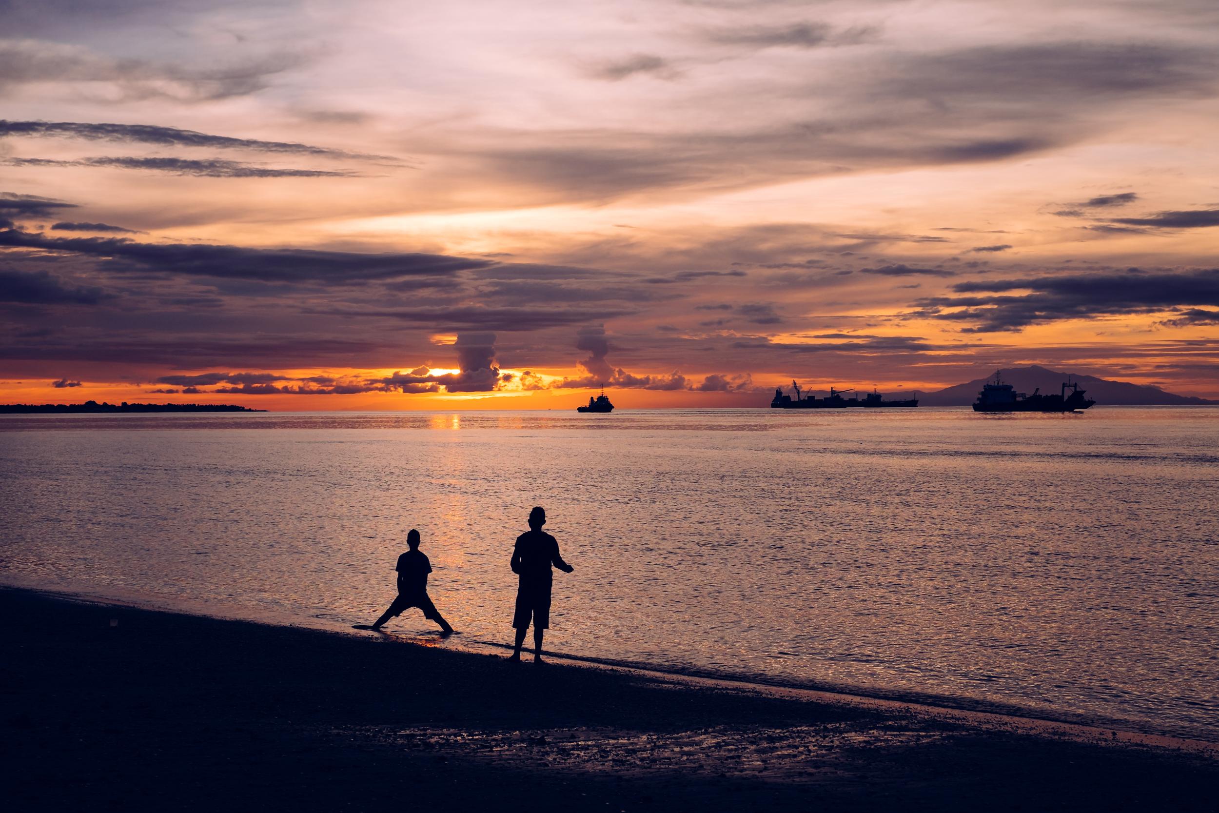 An epic sunset in Dili, Timor Leste
