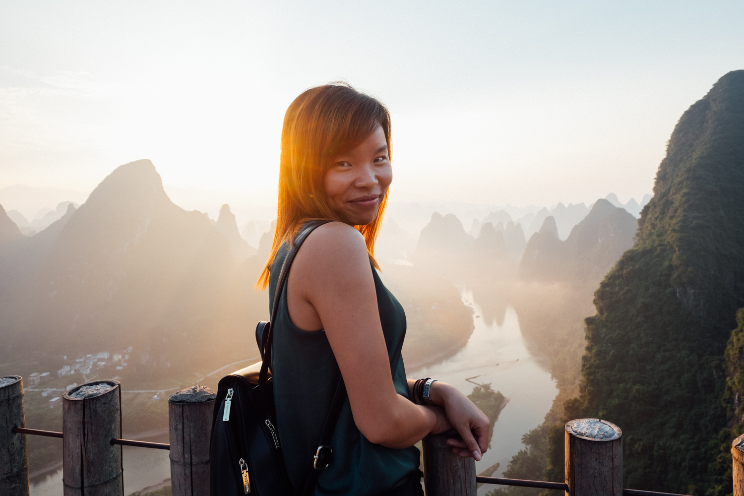 Jane, also at Xianggong hill. The sunrise we saw from there was truly spectacular.