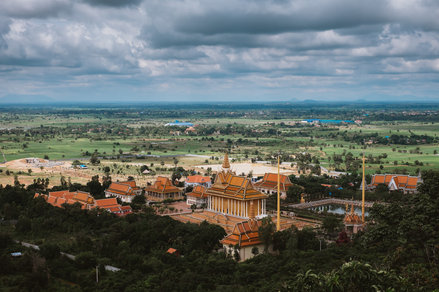 Beautiful view from the top of Phnom Oudong
