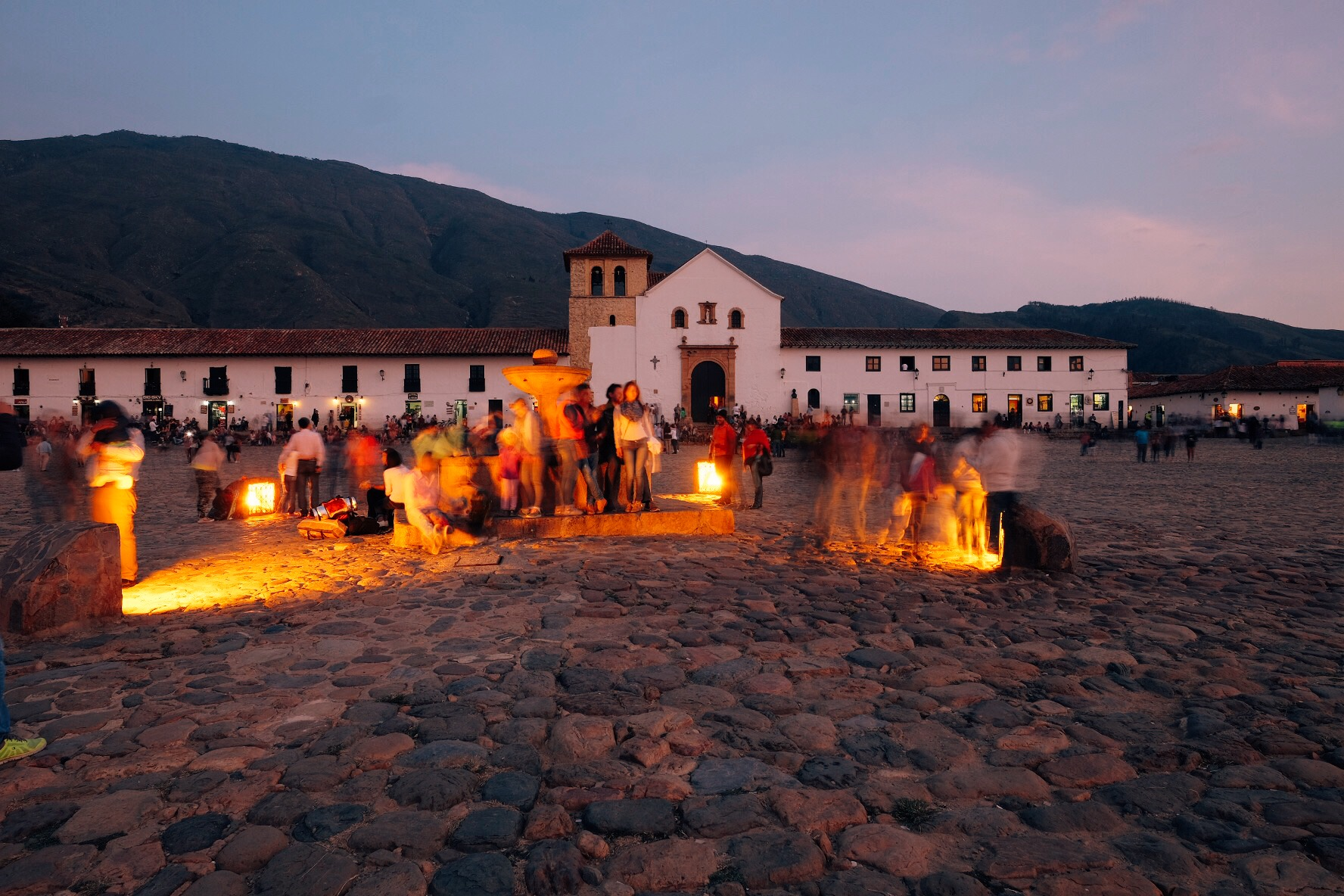 The huge main square in the gorgeous  Villa de Leyva .