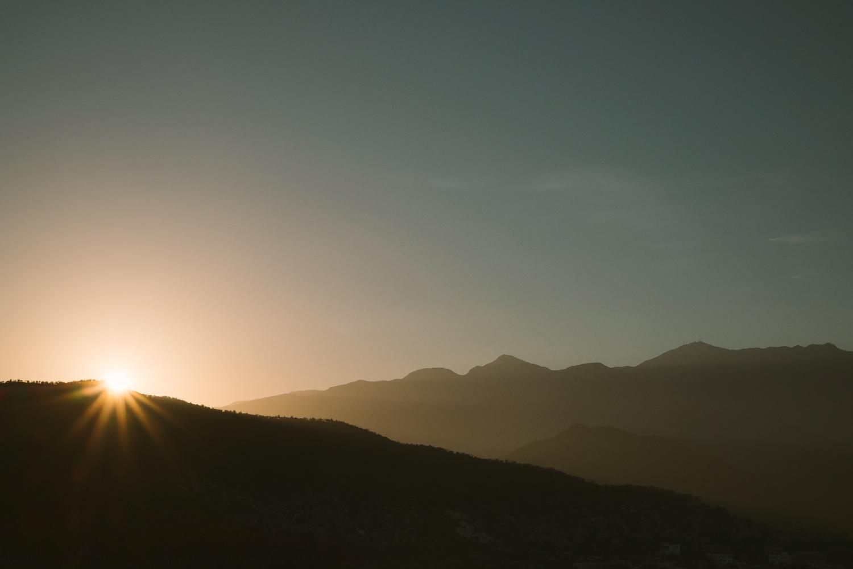 A gorgeous sunrise woke us up...