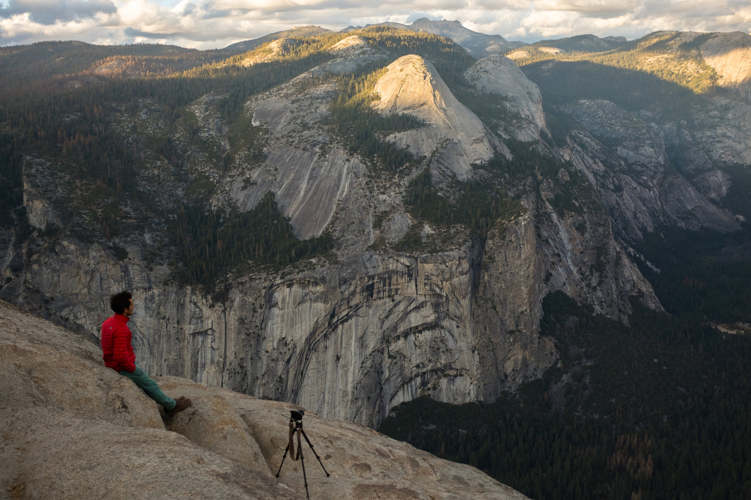 A moment of quietude at  Glacier Point