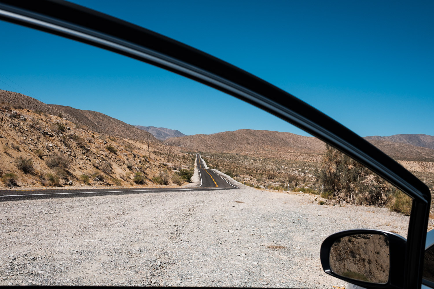 Cutting through Anza-Borrego