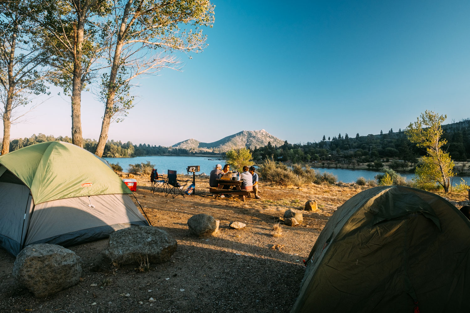 Camping by the picturesque Lake Cuyamaca, Julian, CA