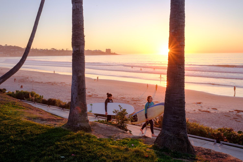 Sunset in La Jolla Shores, San Diego