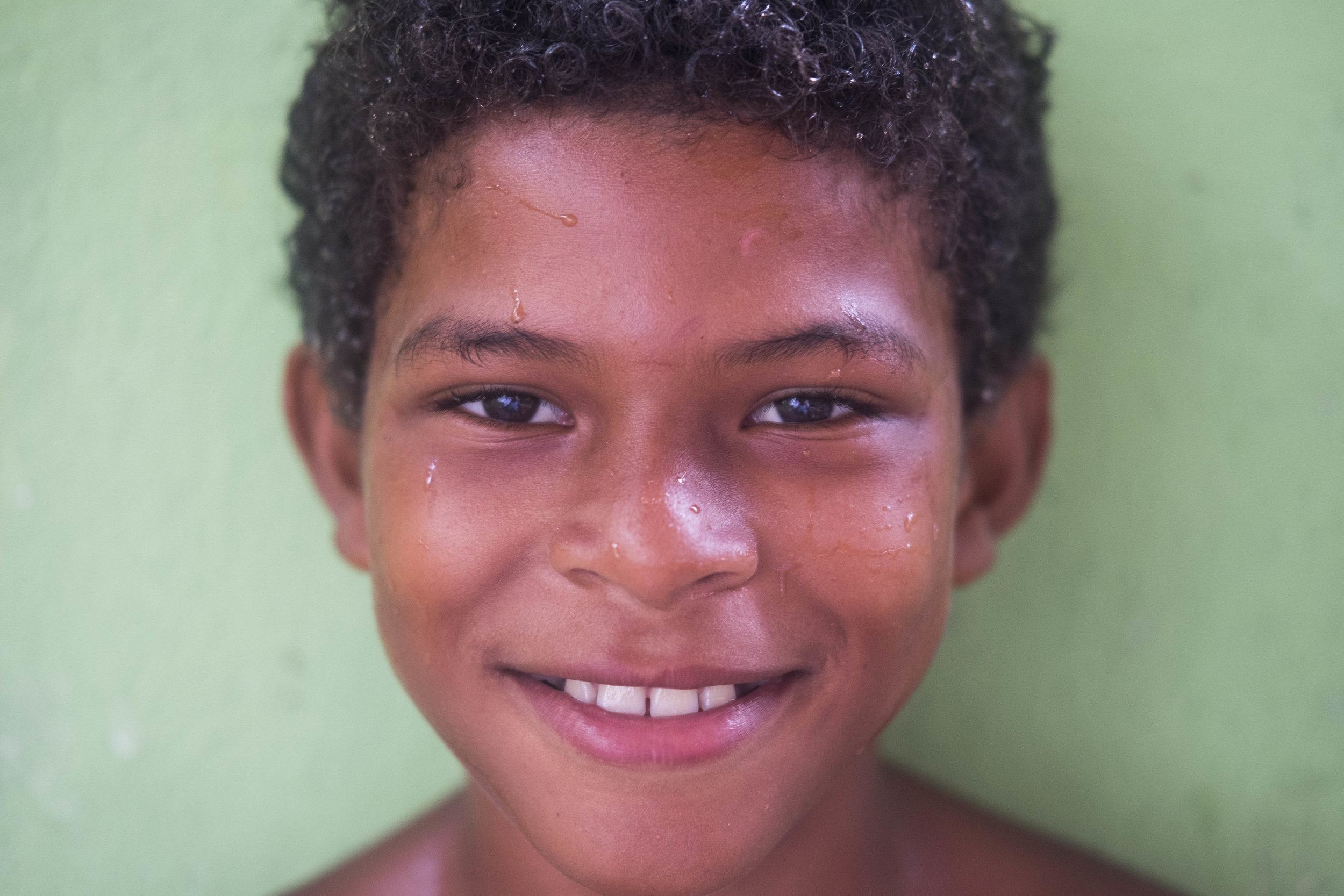 Portrait of one of the boys we work with through our English and Environmental Education classes