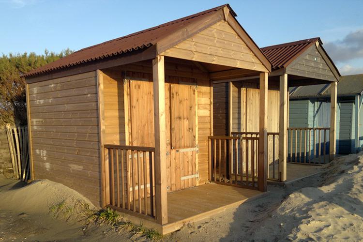 Custom Timber Beach Huts