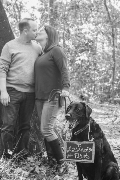 Engagement Photo with Pet