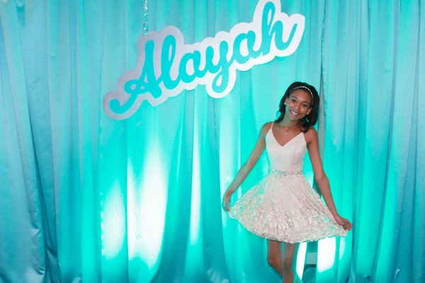Bat Mitzvah Reception Portrait