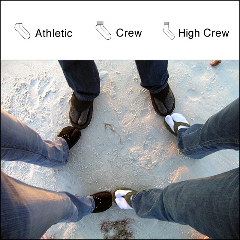 Close-Out $6.99 Stripe Fun Flip-Flop Socks