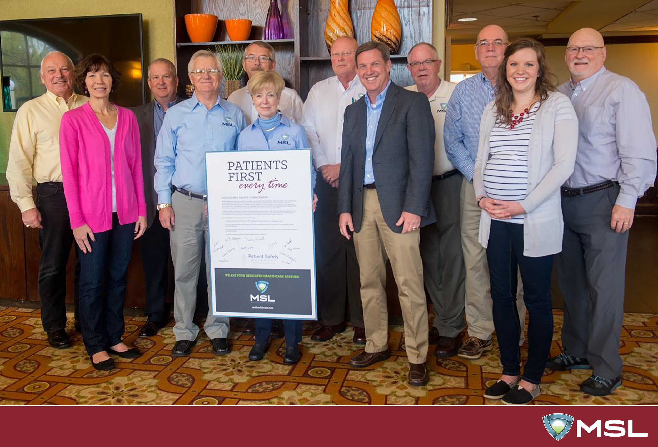 The MSL Team makes a commitment to the Patient Safety Movement at the 2016 MSL Healthcare Annual Company Meeting.