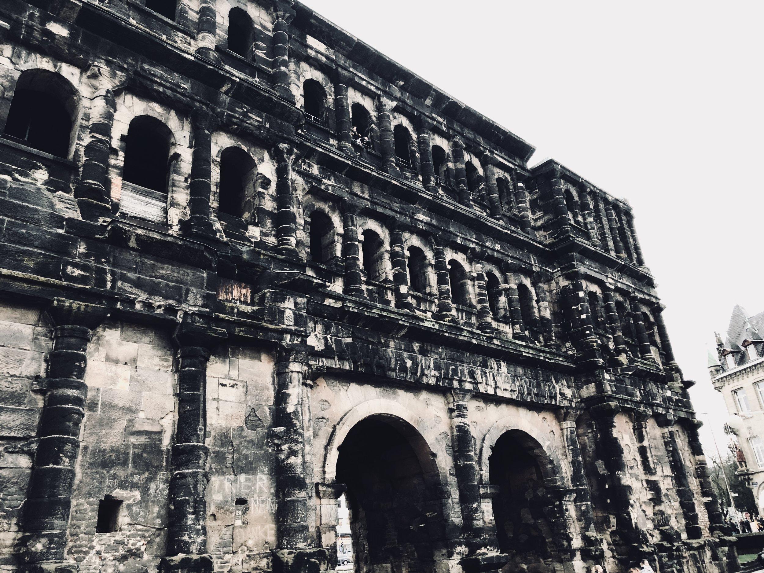 Porta negra, Trier. Roman entrance gate to the old city.