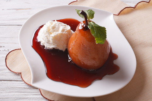 wine-poached-pear