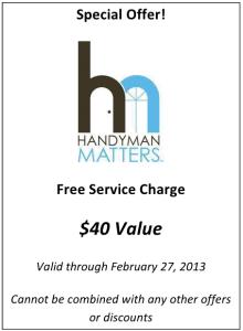 Handyman Matters Coupon