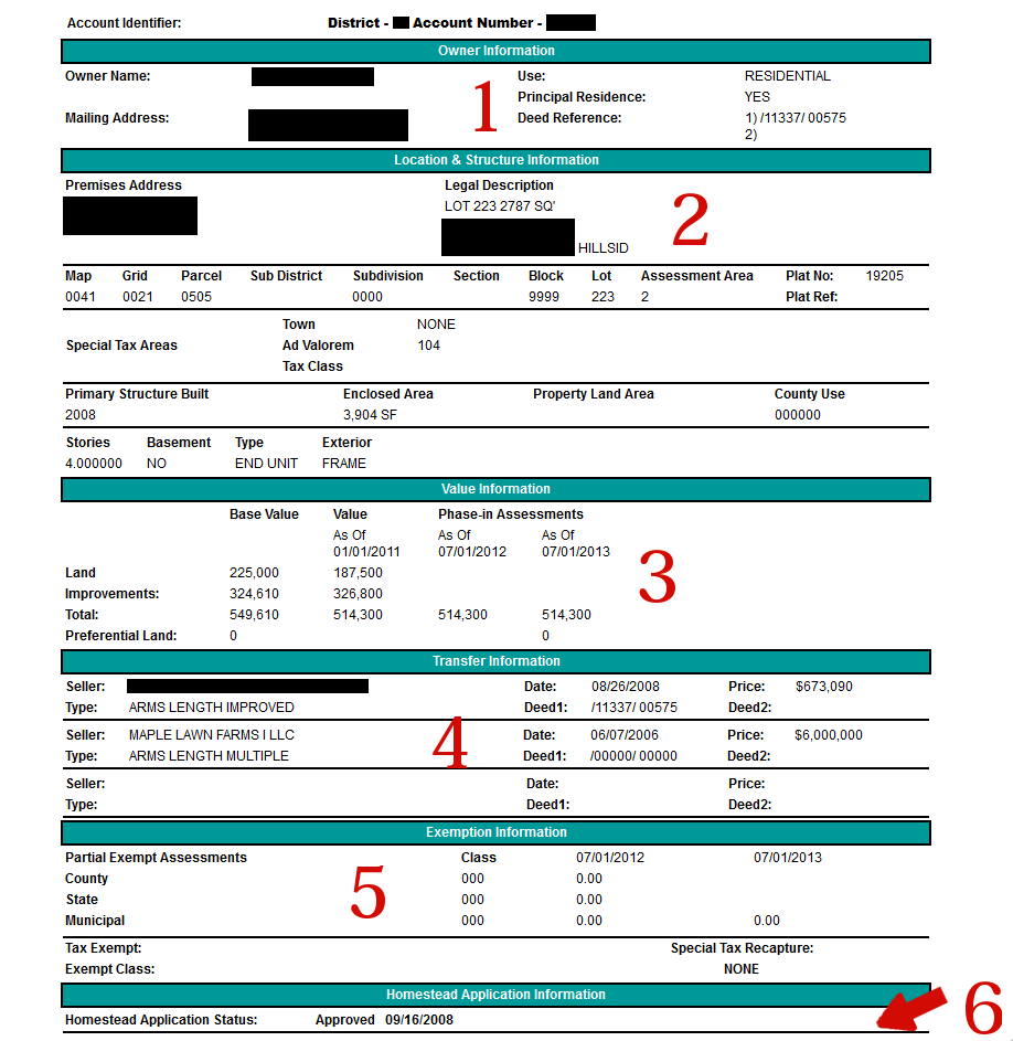Tax Record Screen Shot