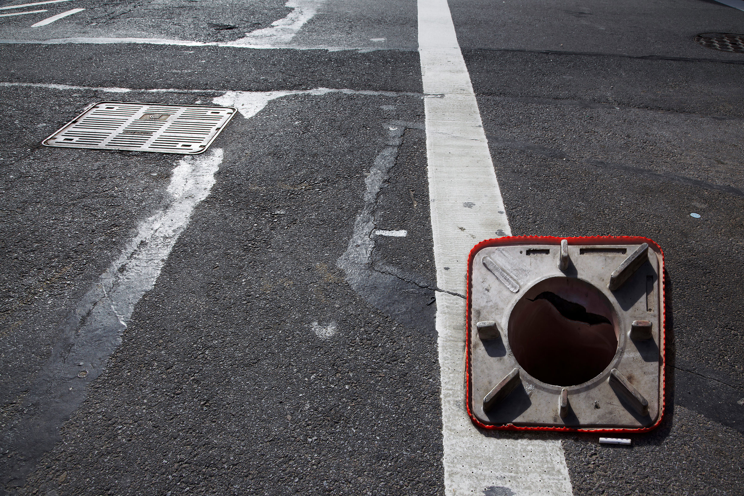 "Traffic Cone , 2014, archival inkjet print on dibond (photograph taken in Brooklyn, New York, 2013), 26""x 40""x 60"" (66 cm x 101.6 cm x 152.4 cm)"