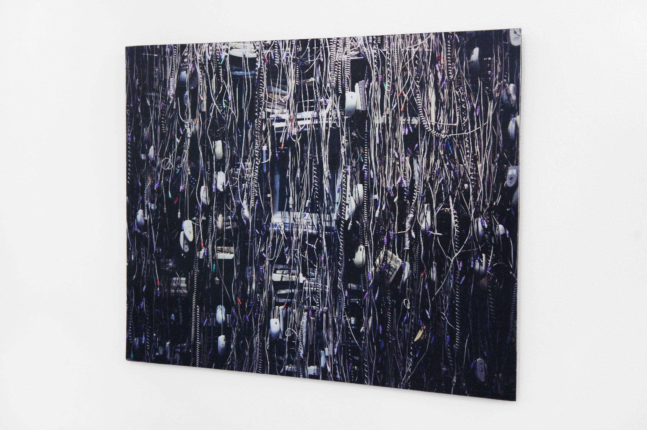 """Over Processing , 2014, lenticular/ hologram print on aluminum, 16""""x 24"""" (50.8 cm x 66 cm)"""