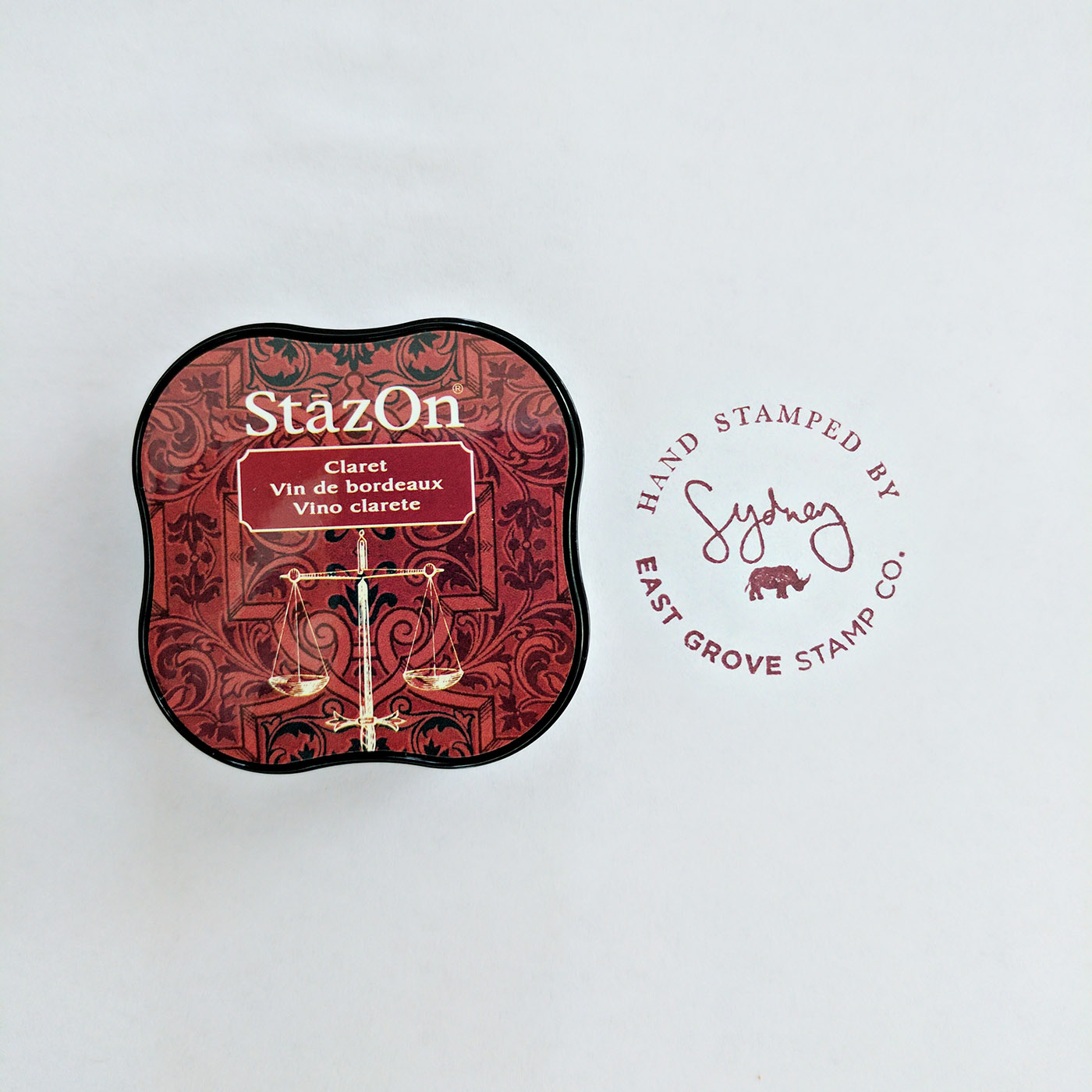 If you love this ink color – I used StazOn in Claret.