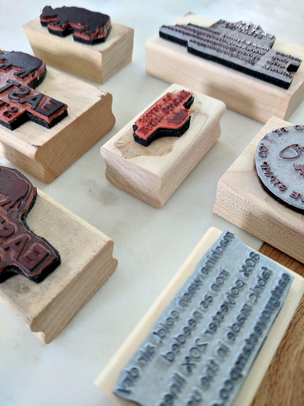 Custom logo stamps for your small business