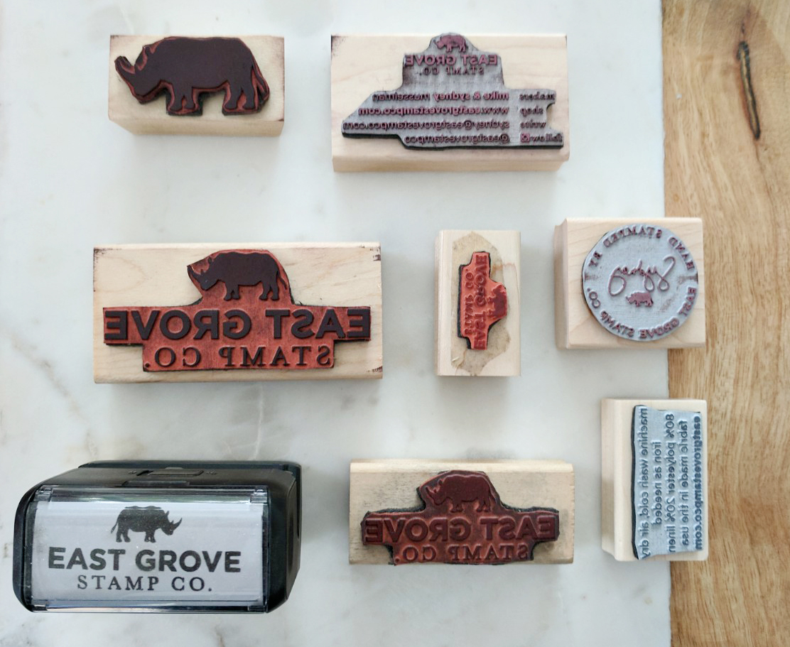 Logo stamps are the perfect solution for small businesses looking to add their branding to their product packaging.