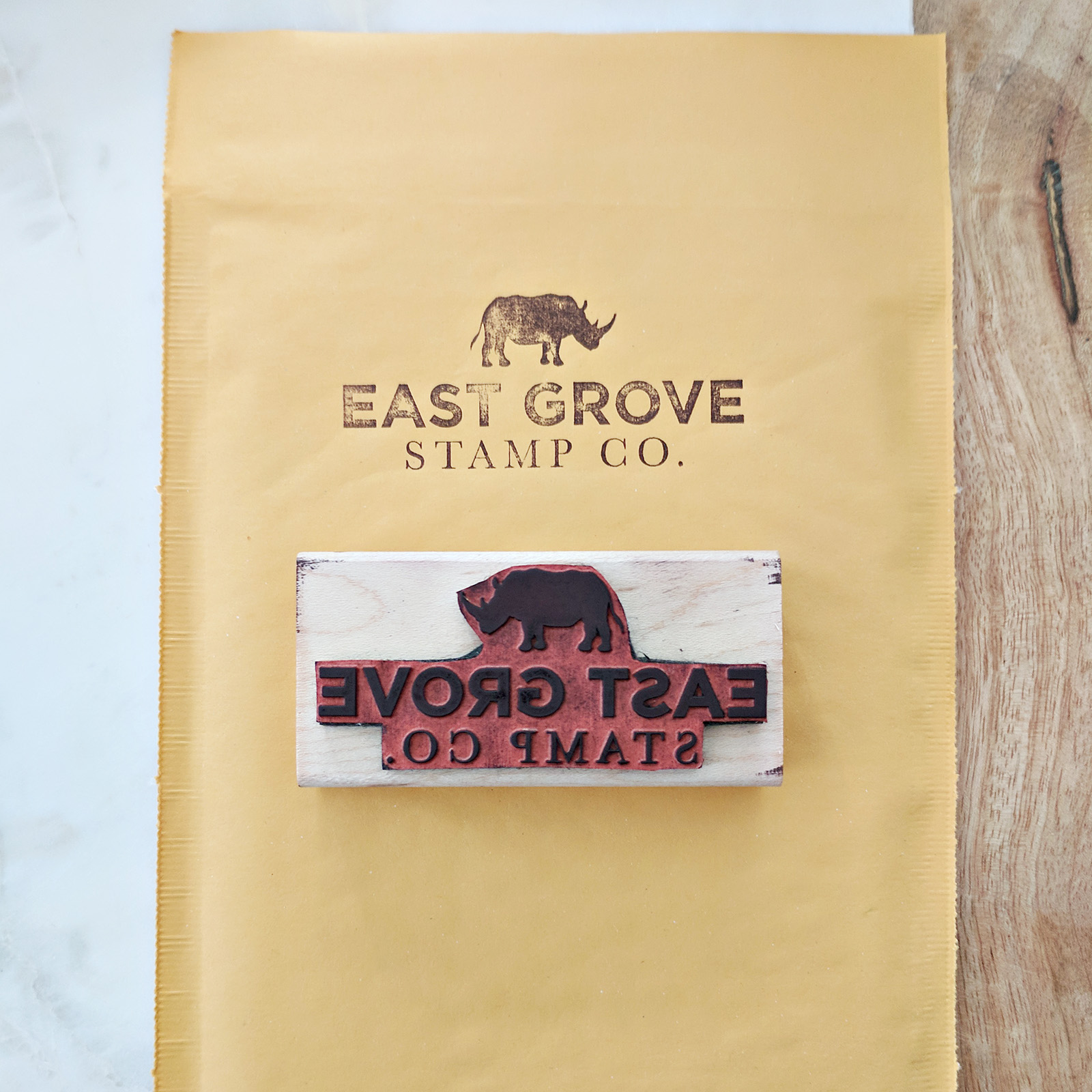 Bubble Mailers - While they aren't the easiest to stamp onto, we make sure to add a logo stamp to each mailer.