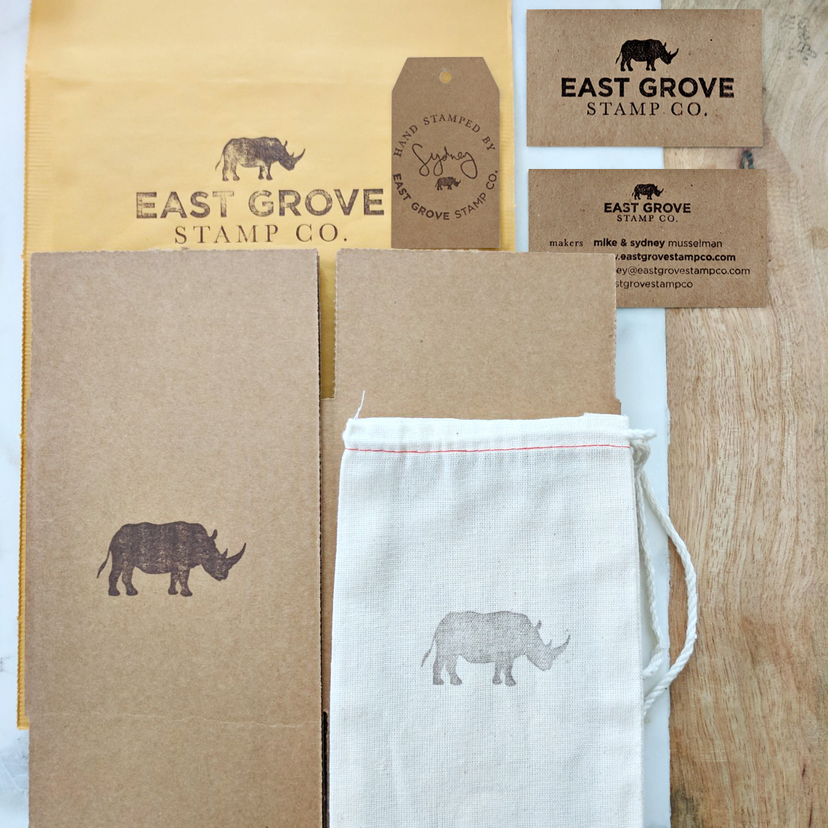 Hand stamping your product packaging is a great way for a small business to add impact to their shipments.