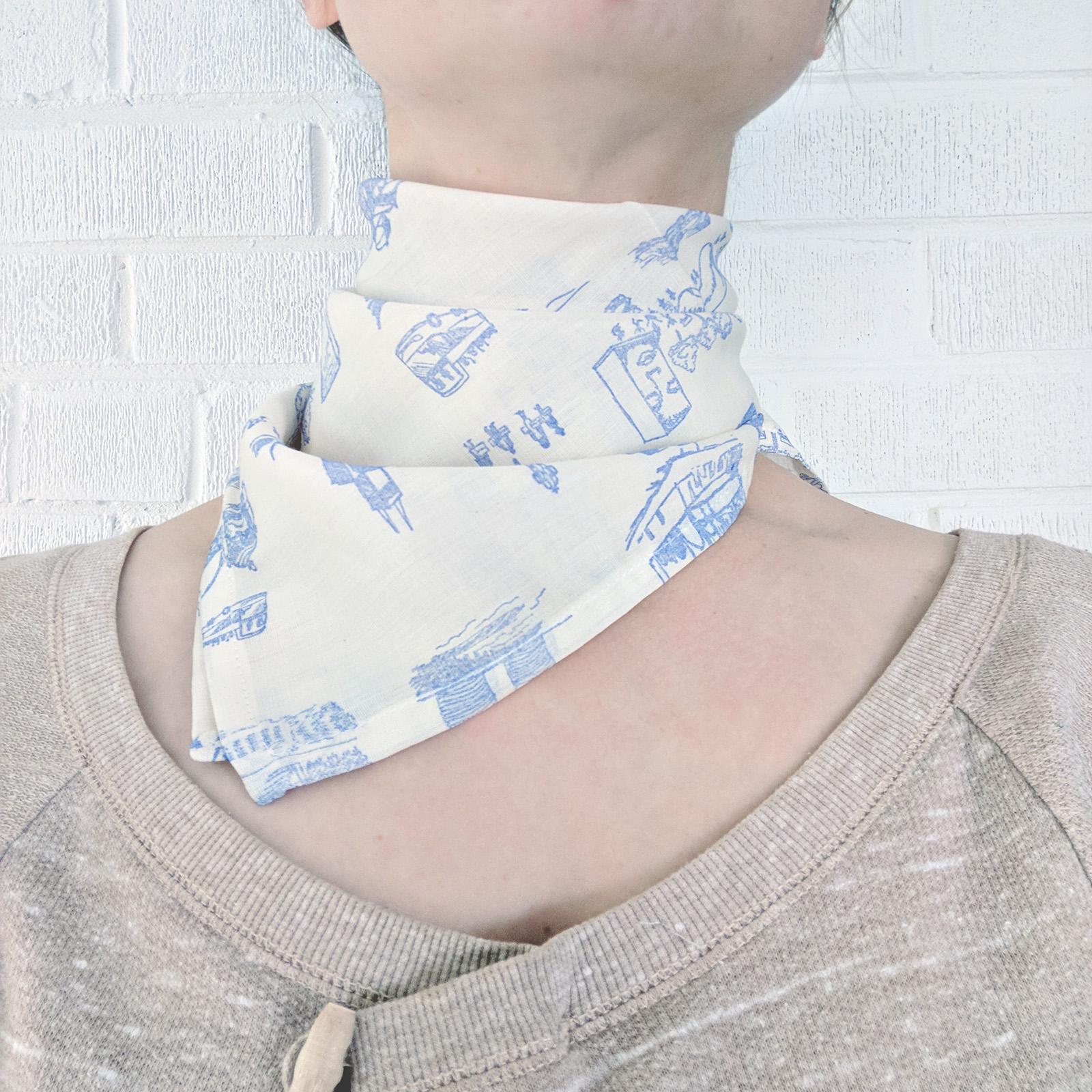 Urban Toile Hand-Stamped Neckerchief