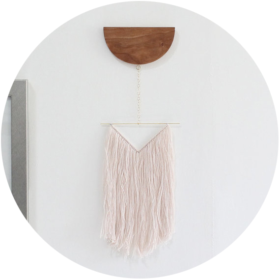 Mingled Goods  – a newly launched shop from designer Darci Towns, Mingled Goods features gorgeous handmade wall hangings, planters, and pillows.