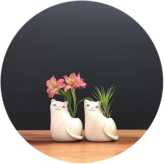 Studio Giverny  – elephants, llamas, whales, and cats, these vases are beautifully crafted and charmingly unique. Last year I gave my sister a whale vase, but with the new release of the cats, I may need to order her one of them.
