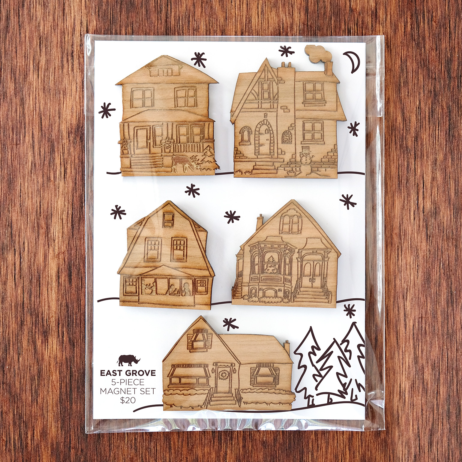Love these idea of the Christmas Village, but need something smaller? We also made the villages as  magnet sets !
