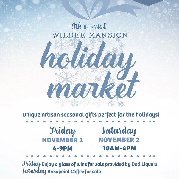 Wilder Mansion Holiday Market / November 1-2 / Elmhurst, Illinois