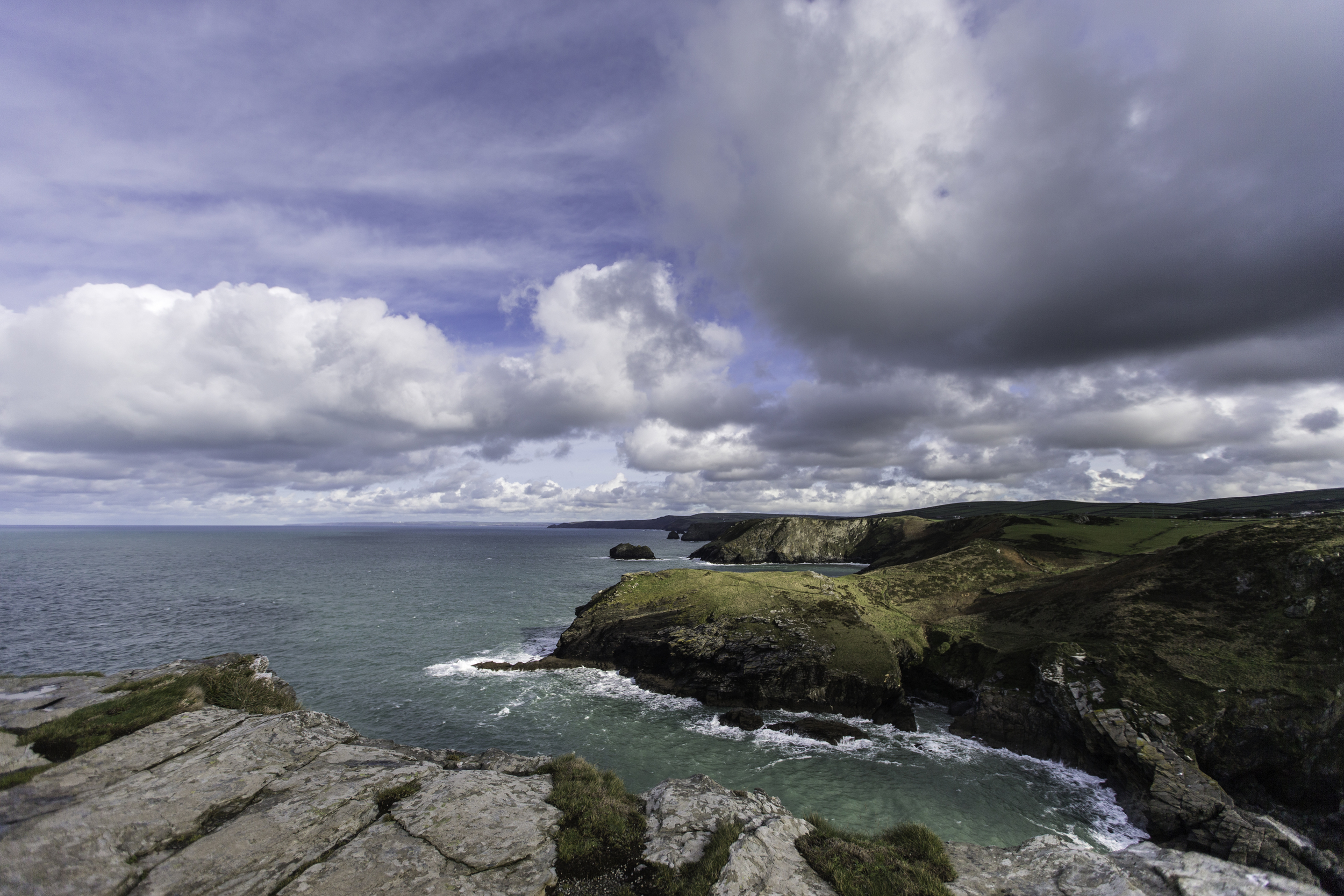 ©Jennifer Bailey 2014 Tintagel Headland, standing over Merlin's Cave