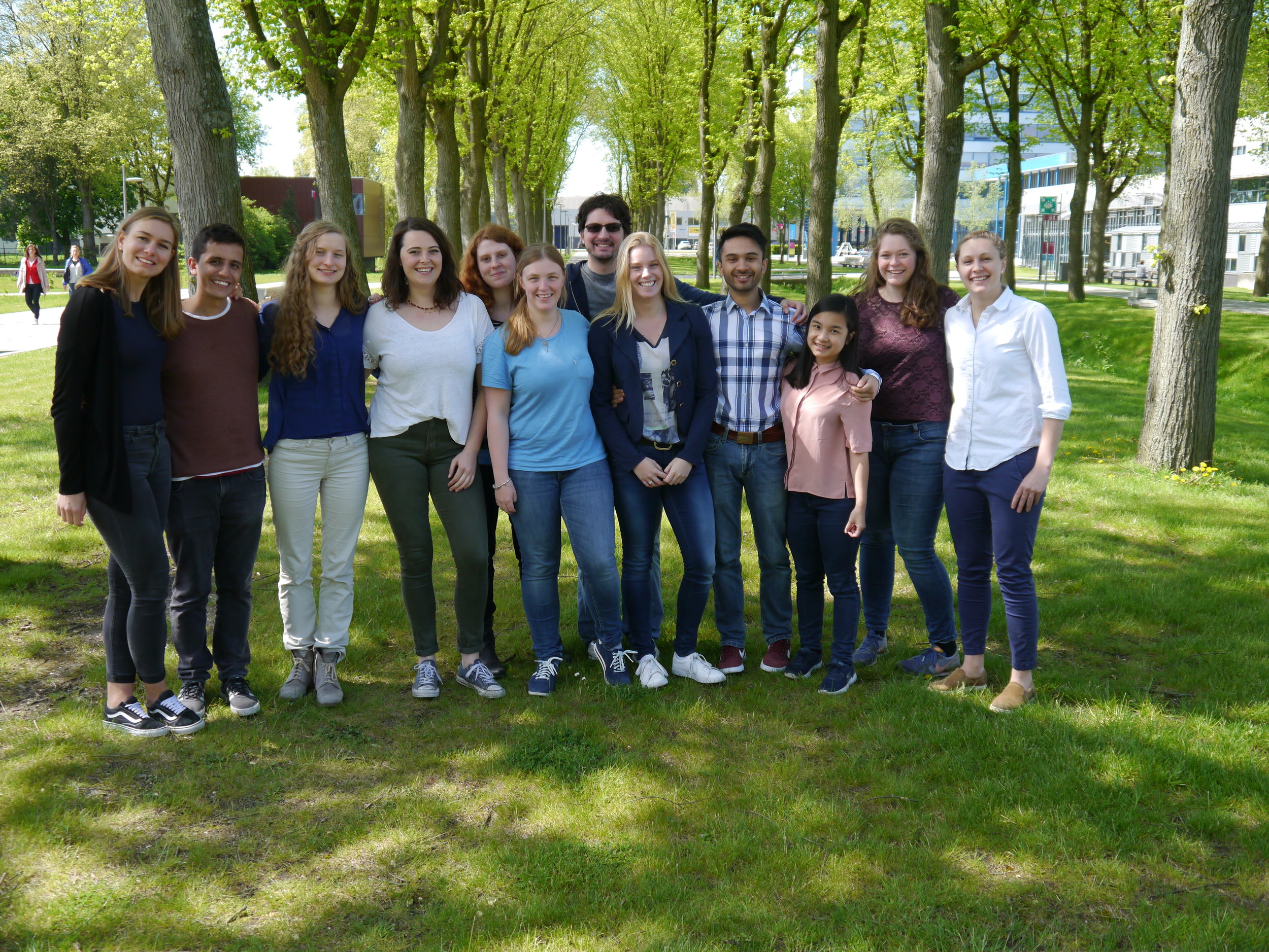 Left to right:  Lisbeth Schmidtchen; Timmy Paez; Gemma van der Voort; Lisa Büller; Jard Mattens; Janine Nijenhuis; Alex Armstrong; Nicole Bennis; Kavish Kohabir; Venda Mangkusaputra; Susan Bouwmeester; Monique de Leeuw