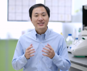 He Jiankui announcing the birth of the gene-edited twins on Youtube